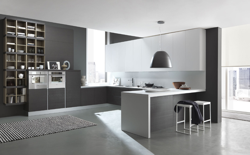 Cocina mod city roble gris grupo guijo for Cocinas en color blanco y gris